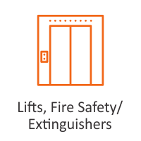Lifts, Fire Safety/ Extinguishers