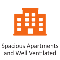 Spacious Apartments and Well Ventilated